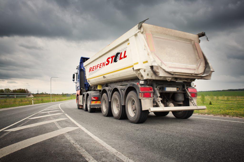 truck on asphalt road